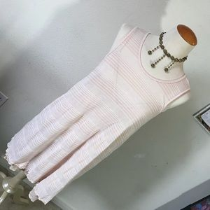 Free People 2 Piece Baby Pink Slip & Knit Tunic